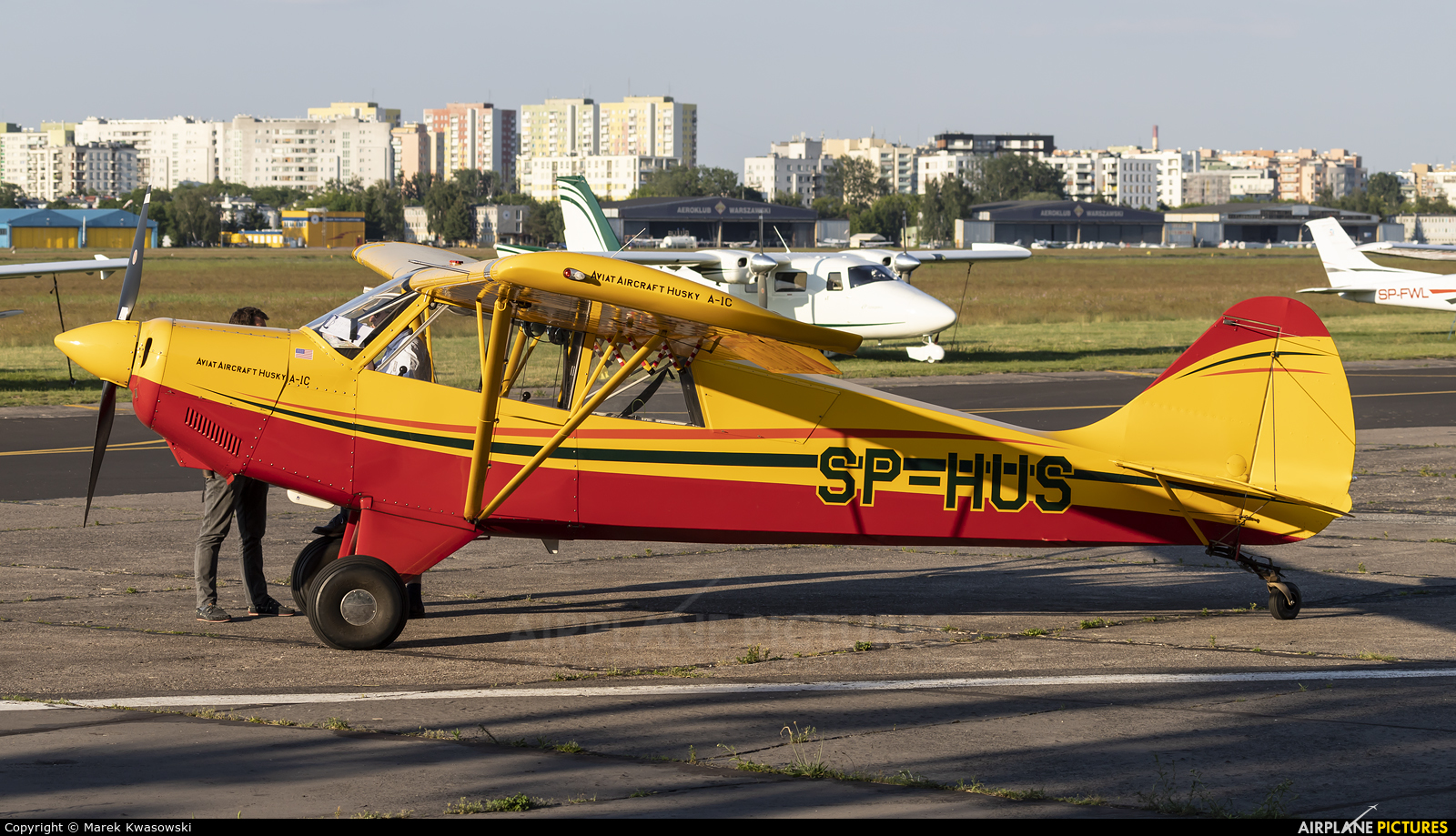 Private SP-HUS aircraft at Warsaw - Babice