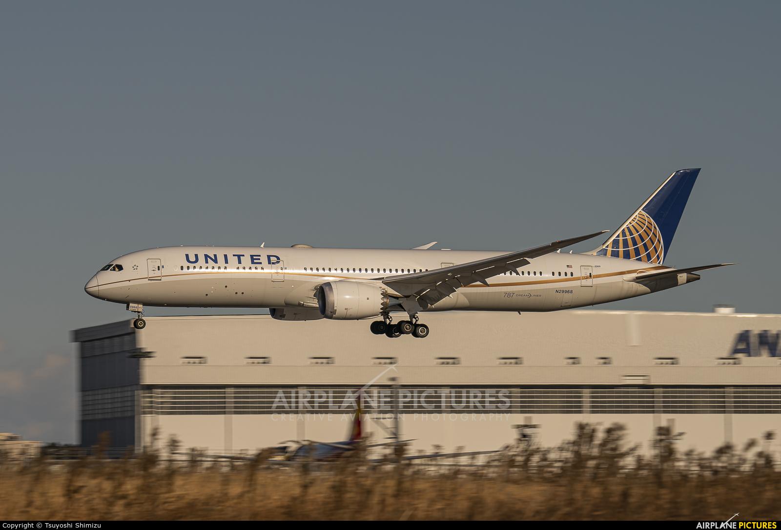 United Airlines N29968 aircraft at Tokyo - Narita Intl