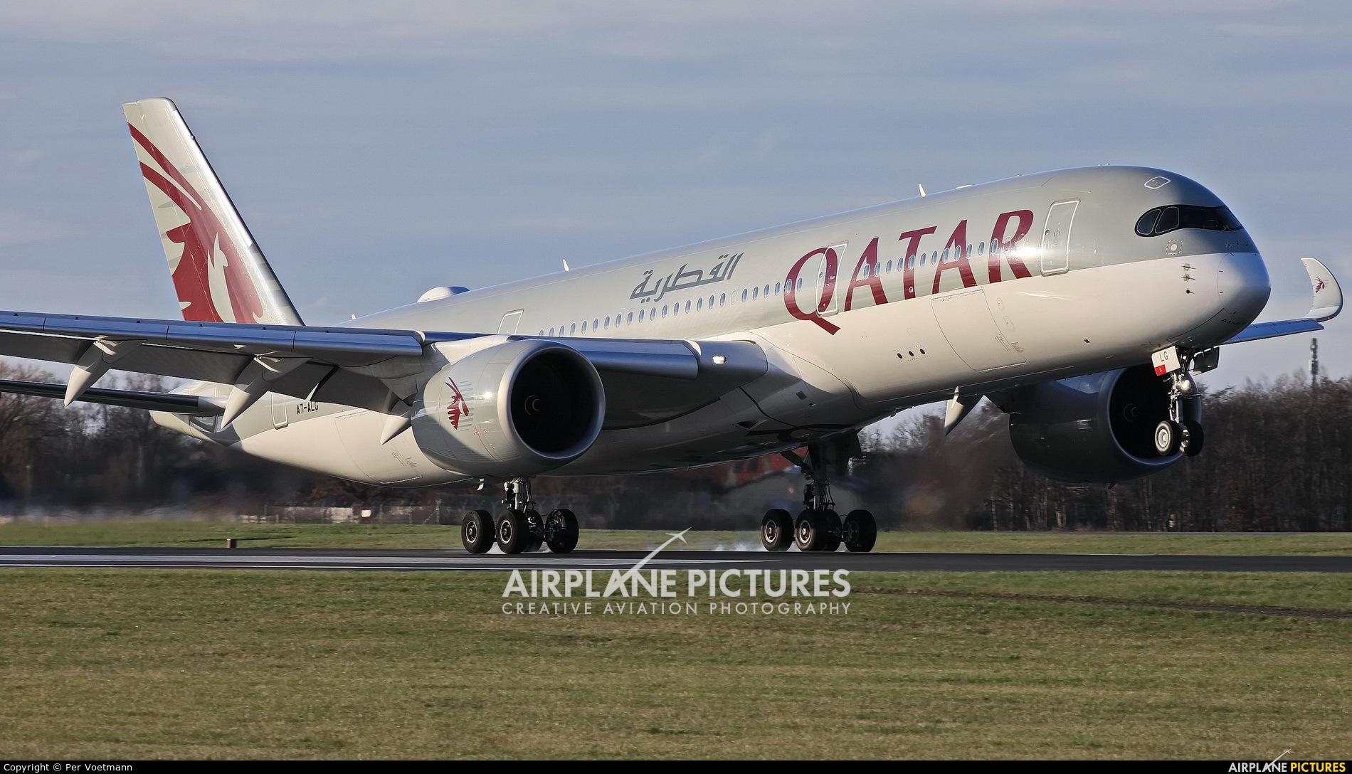 Qatar Airways A7-ALG aircraft at Copenhagen Kastrup