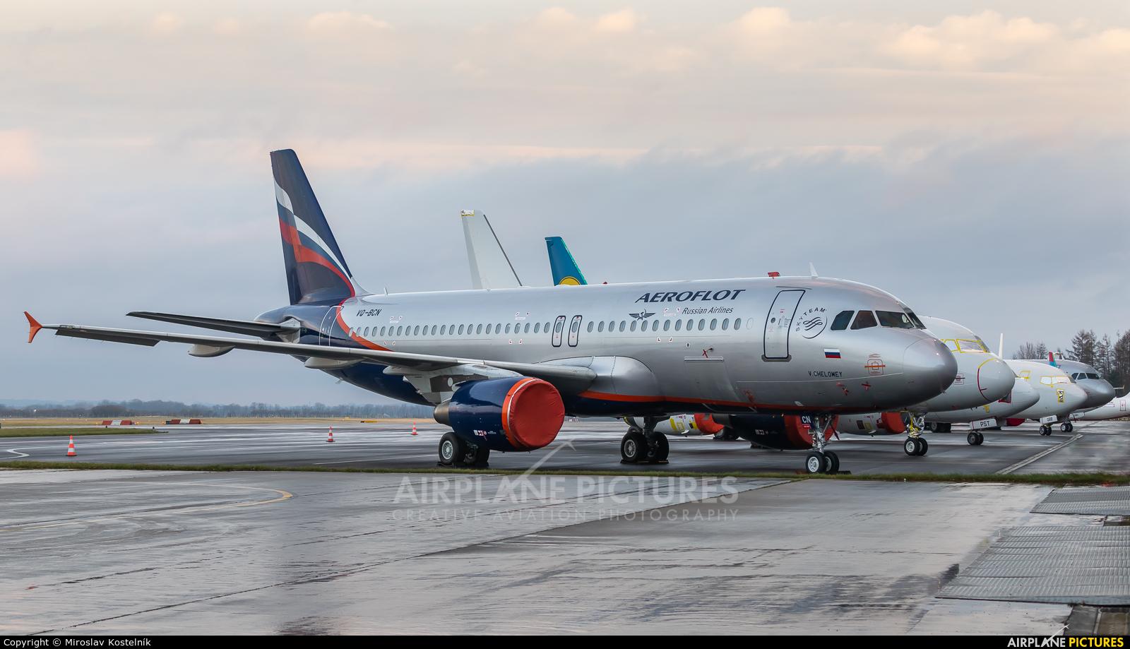 Aeroflot VQ-BCN aircraft at Ostrava Mošnov