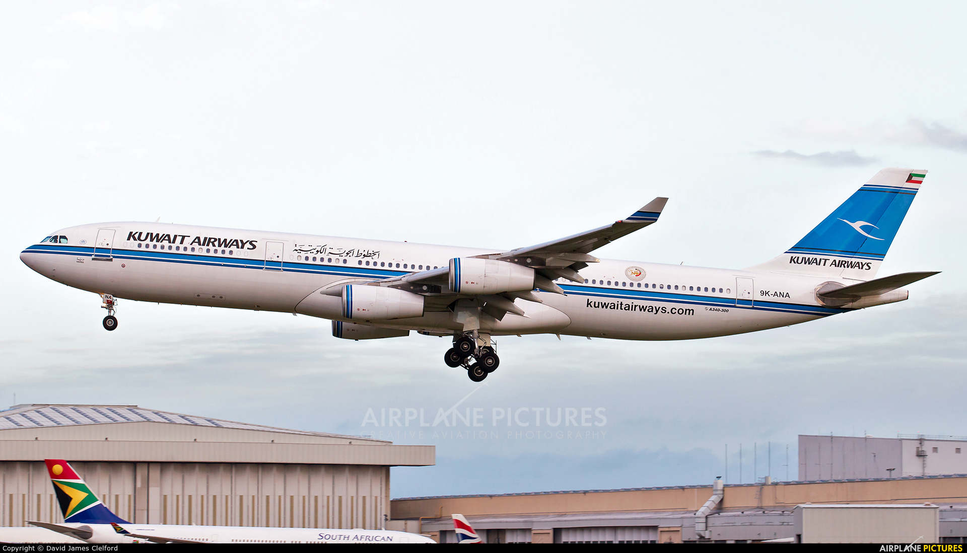 Kuwait Airways 9K-ANA aircraft at London - Heathrow