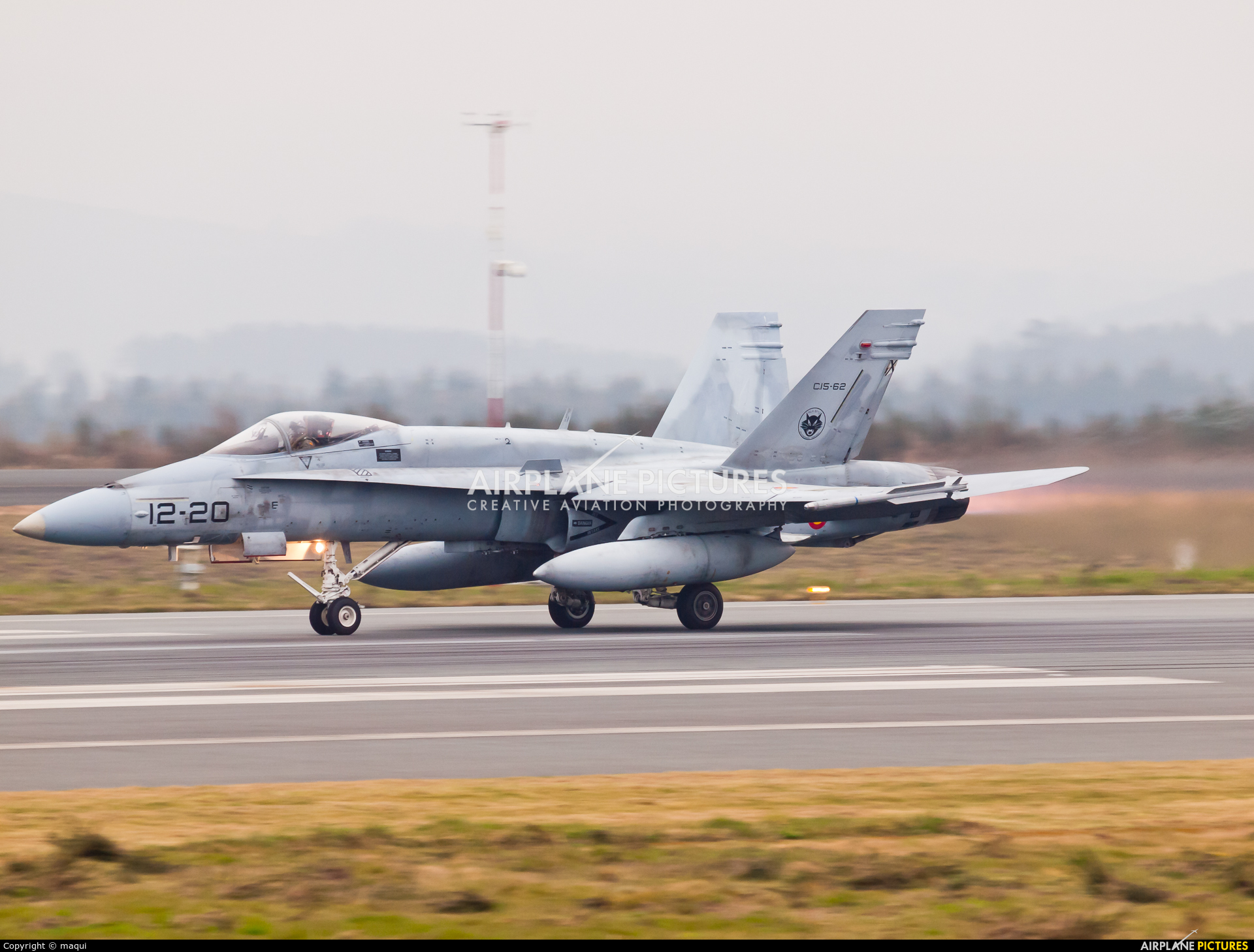 Spain - Air Force C.15-62 aircraft at Santiago de Compostela