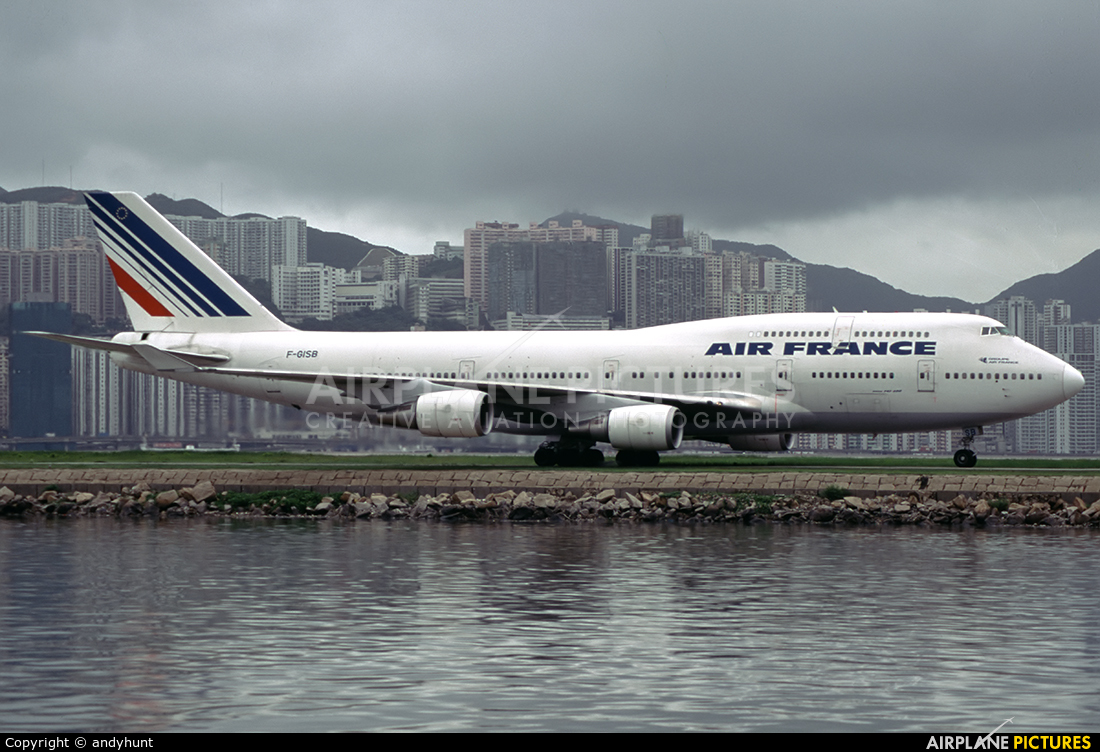 Air France F-GISB aircraft at HKG - Kai Tak Intl CLOSED