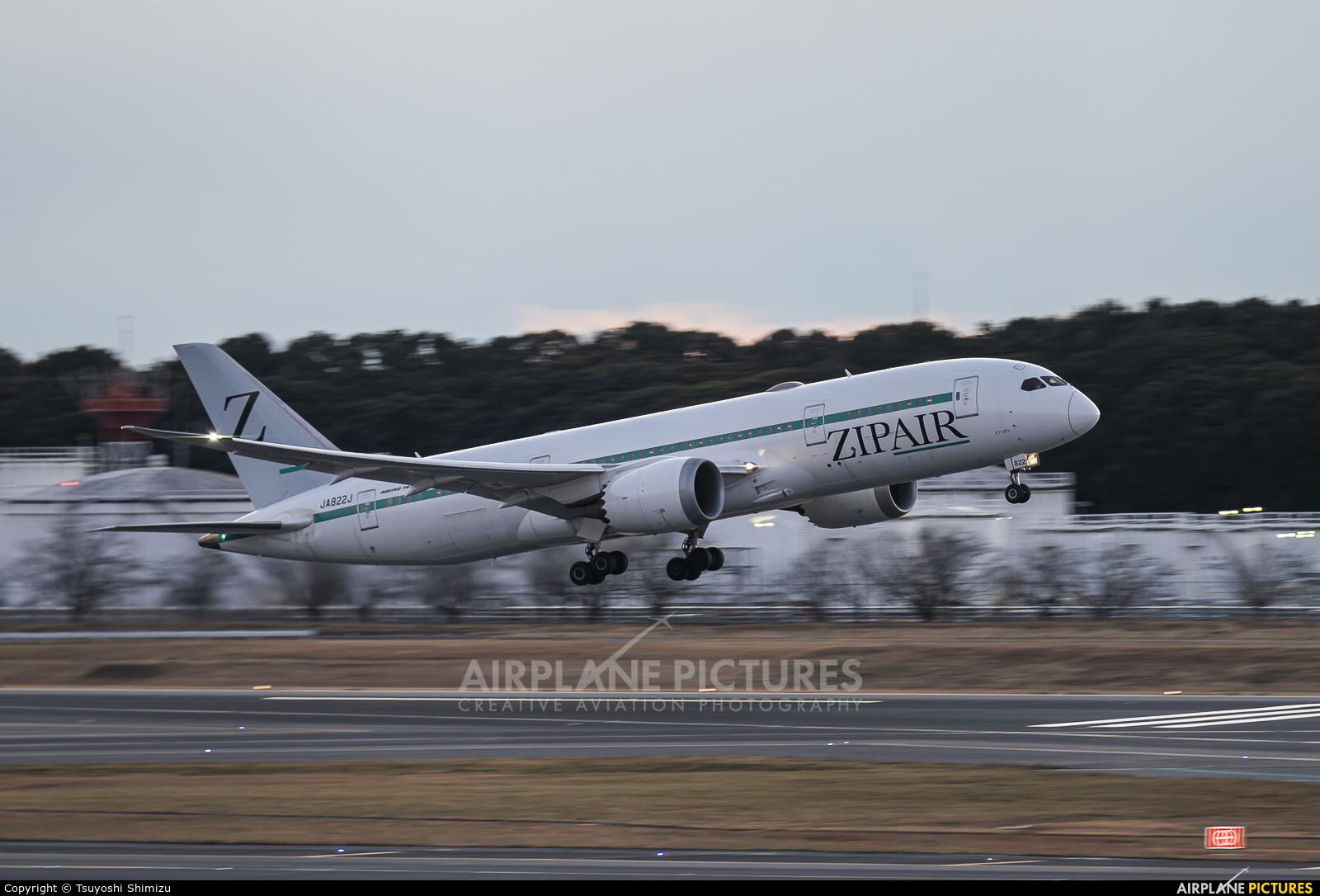 ZIPAIR Tokyo JA822J aircraft at Tokyo - Narita Intl