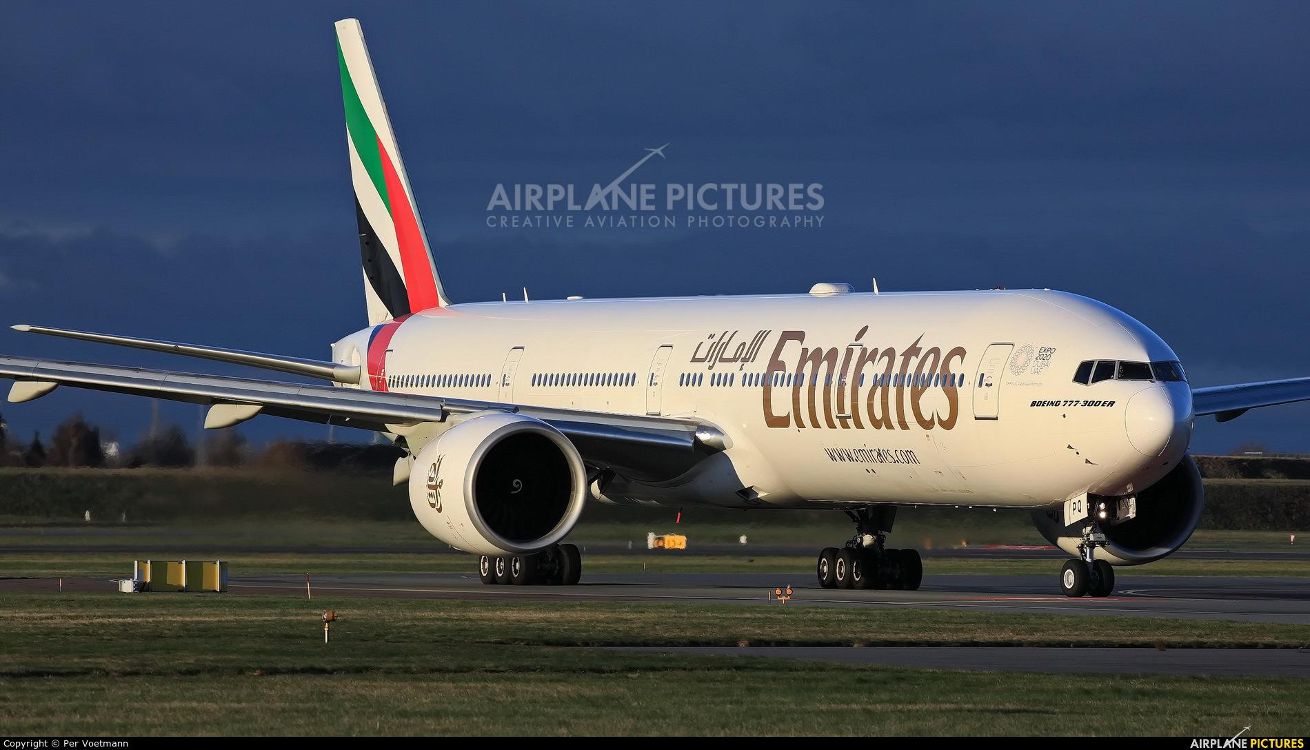 Emirates Airlines A6-EPQ aircraft at Copenhagen Kastrup