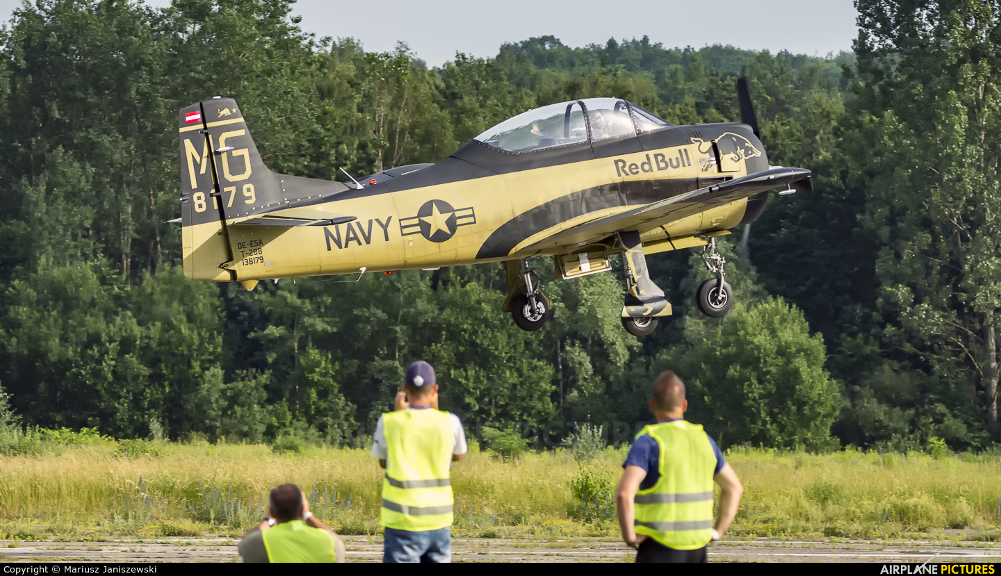 The Flying Bulls OE-ESA aircraft at Katowice Muchowiec