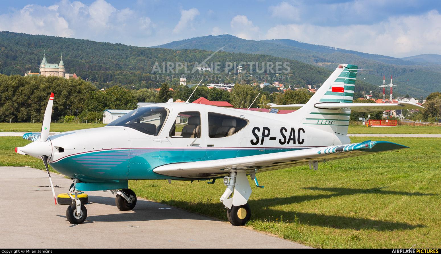 Private SP-SAC aircraft at Prievidza