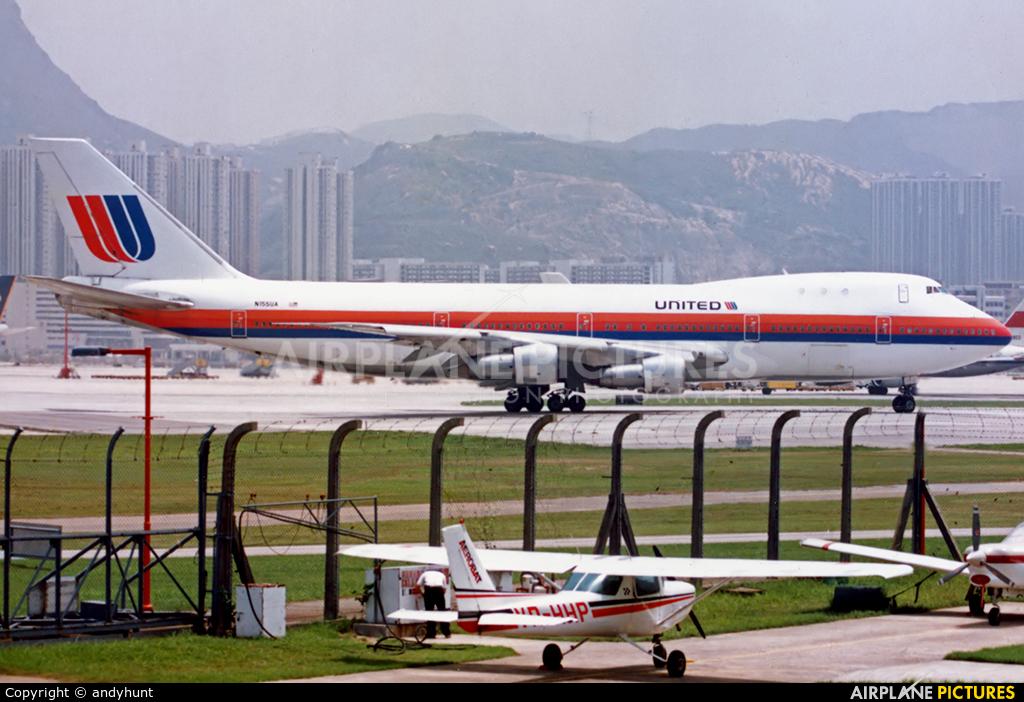 United Airlines N155UA aircraft at HKG - Kai Tak Intl CLOSED