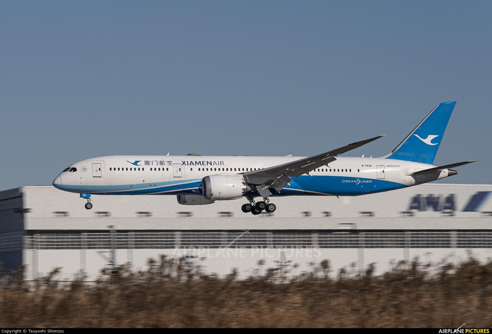Xiamen Airlines B-7838 aircraft at Tokyo - Narita Intl