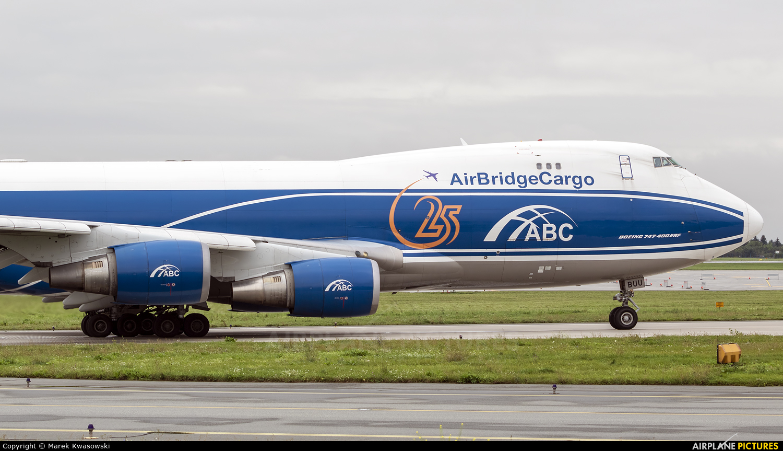 Air Bridge Cargo VQ-BUU aircraft at Warsaw - Frederic Chopin