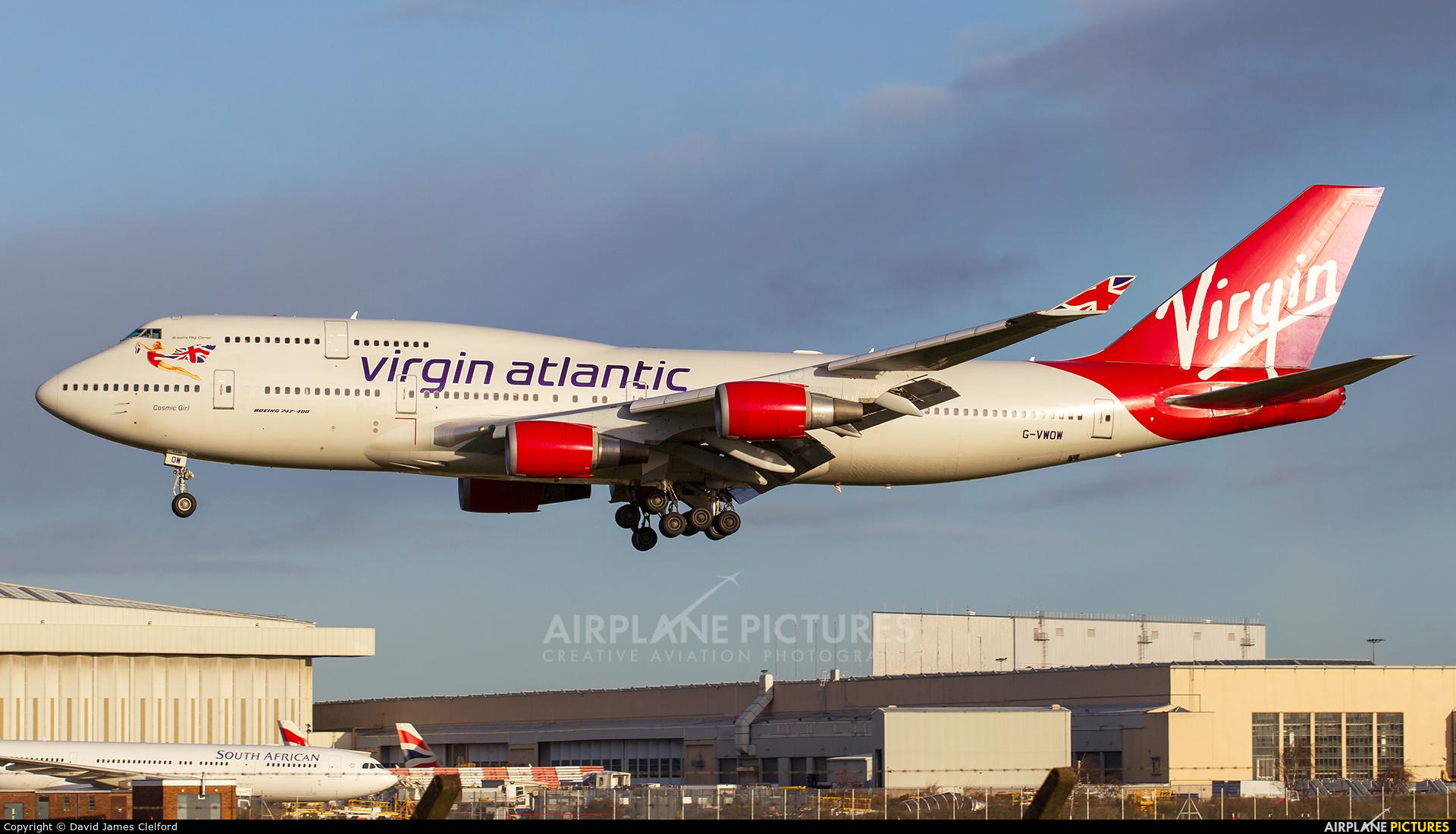 Virgin Atlantic G-VWOW aircraft at London - Heathrow