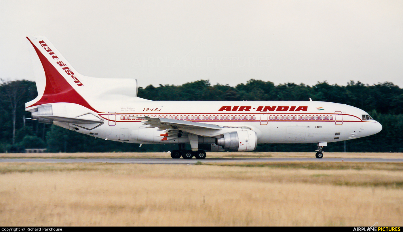 Air India V2-LEJ aircraft at Frankfurt