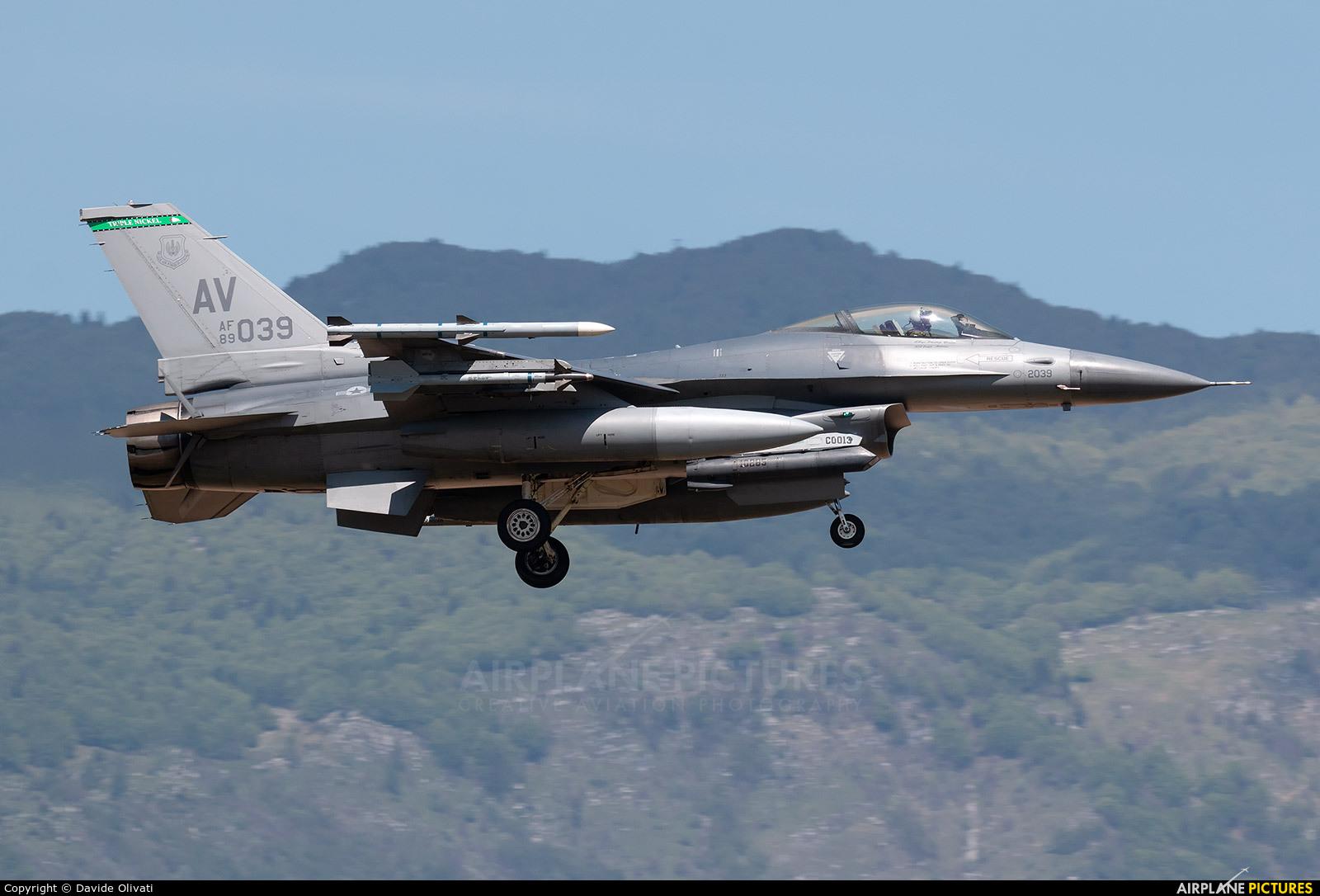 USA - Air Force 89-2039 aircraft at Aviano