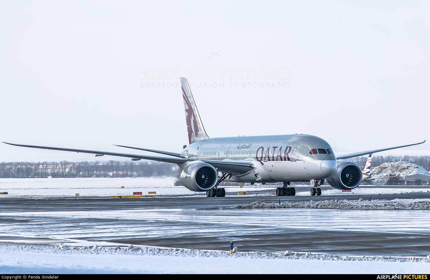 Qatar Airways A7-BDC aircraft at Prague - Václav Havel