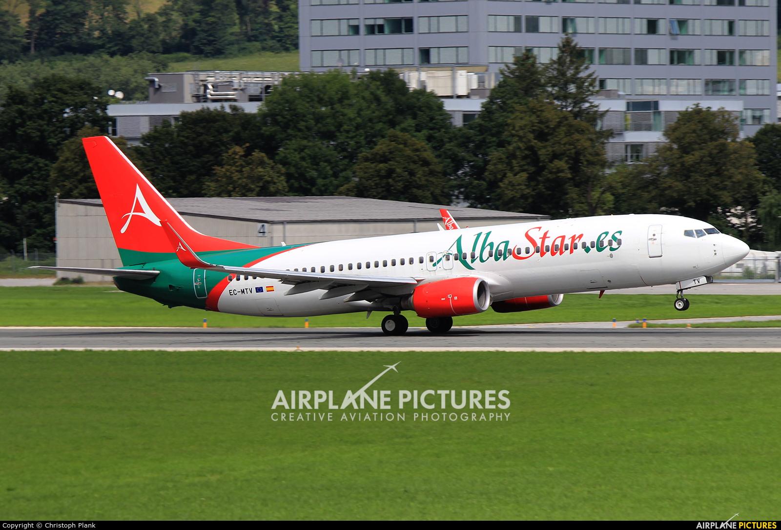 AlbaStar EC-MTV aircraft at Innsbruck