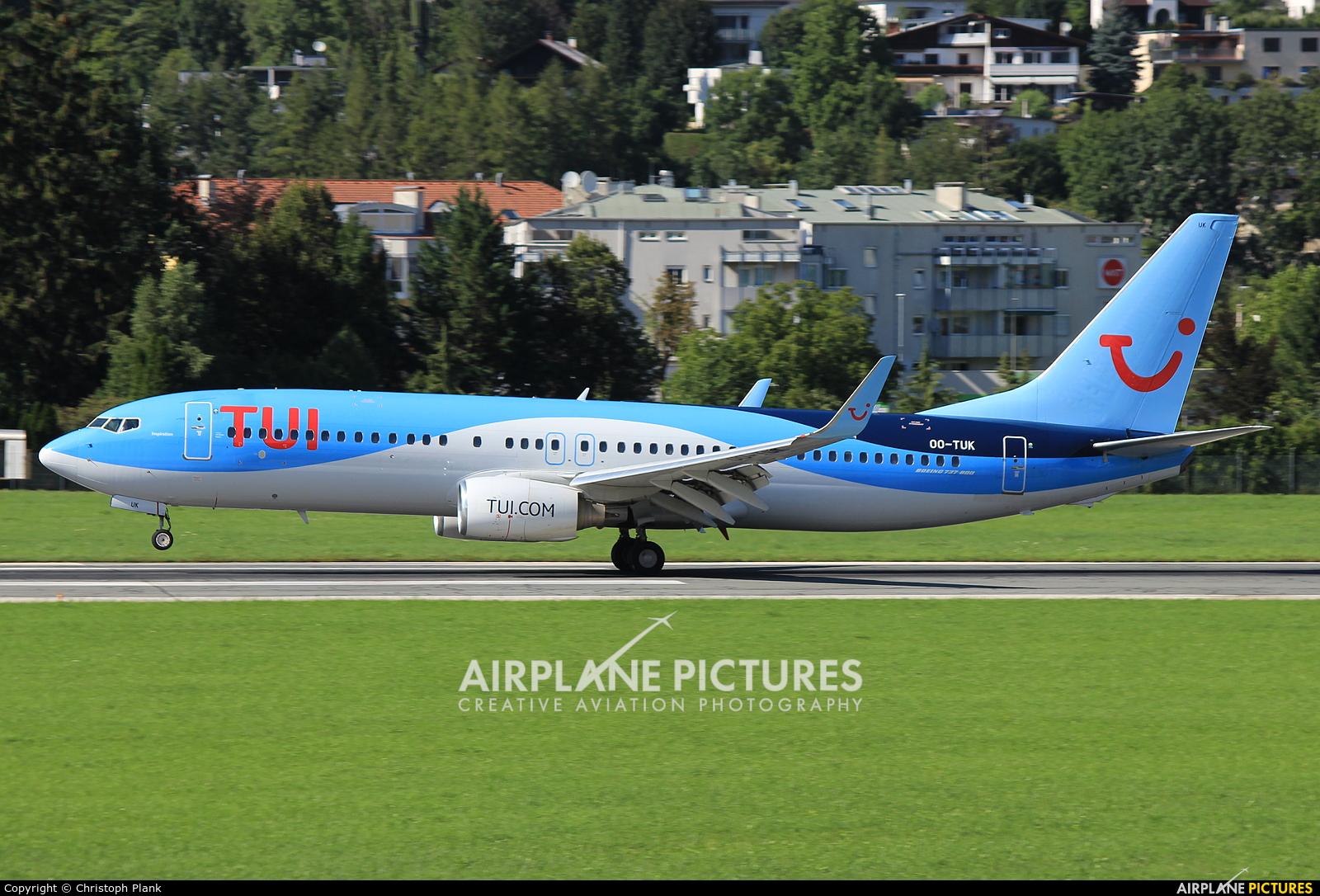 TUI Airlines Belgium OO-TUK aircraft at Innsbruck