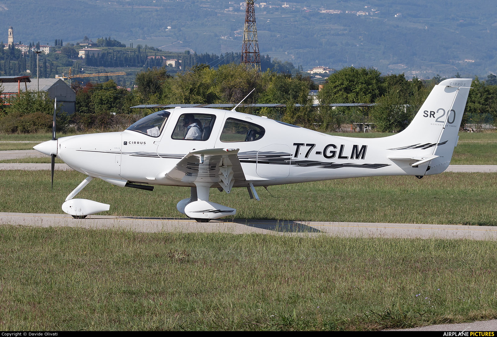 Private T7-GLM aircraft at Verona - Boscomantico
