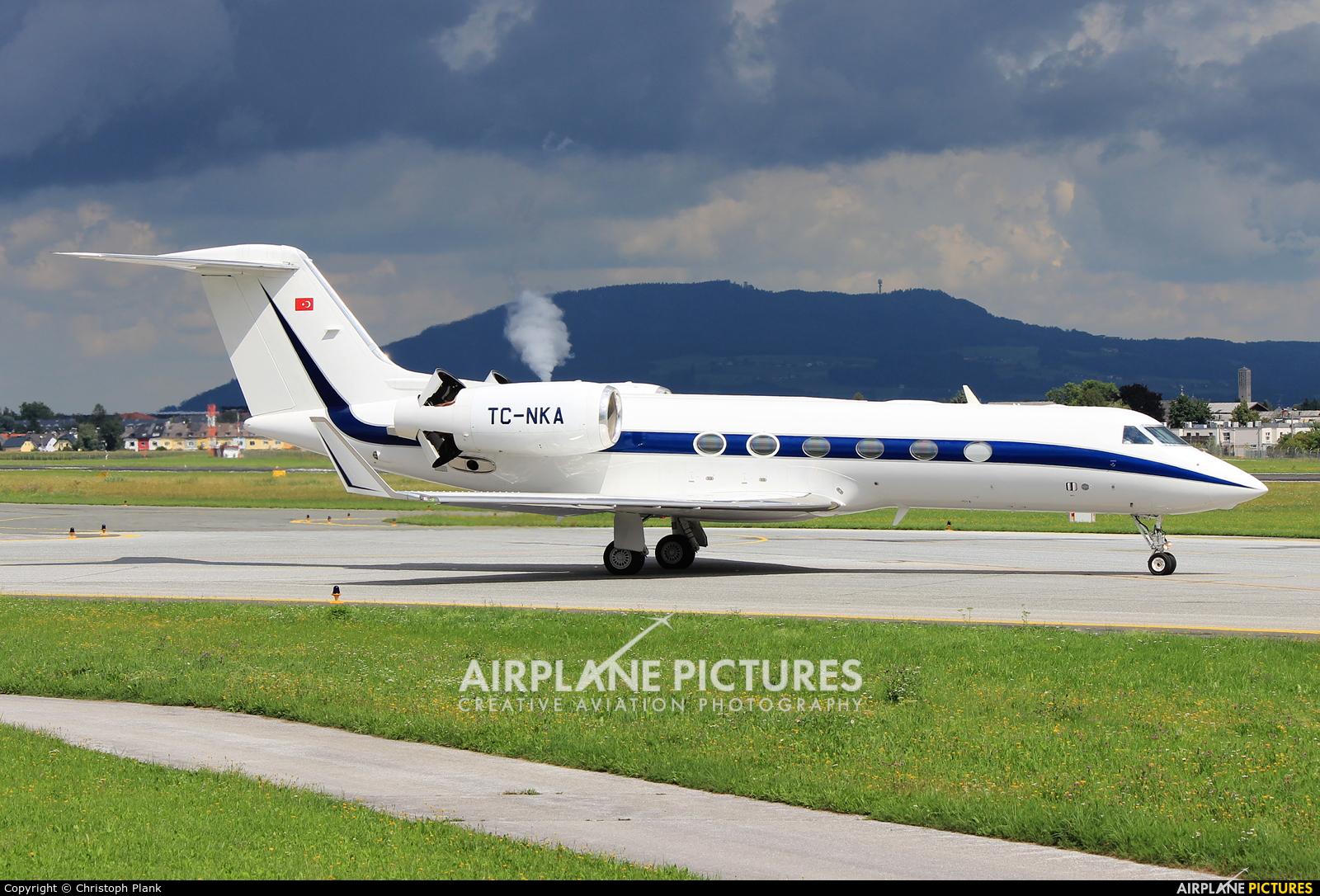 Private TC-NKA aircraft at Salzburg
