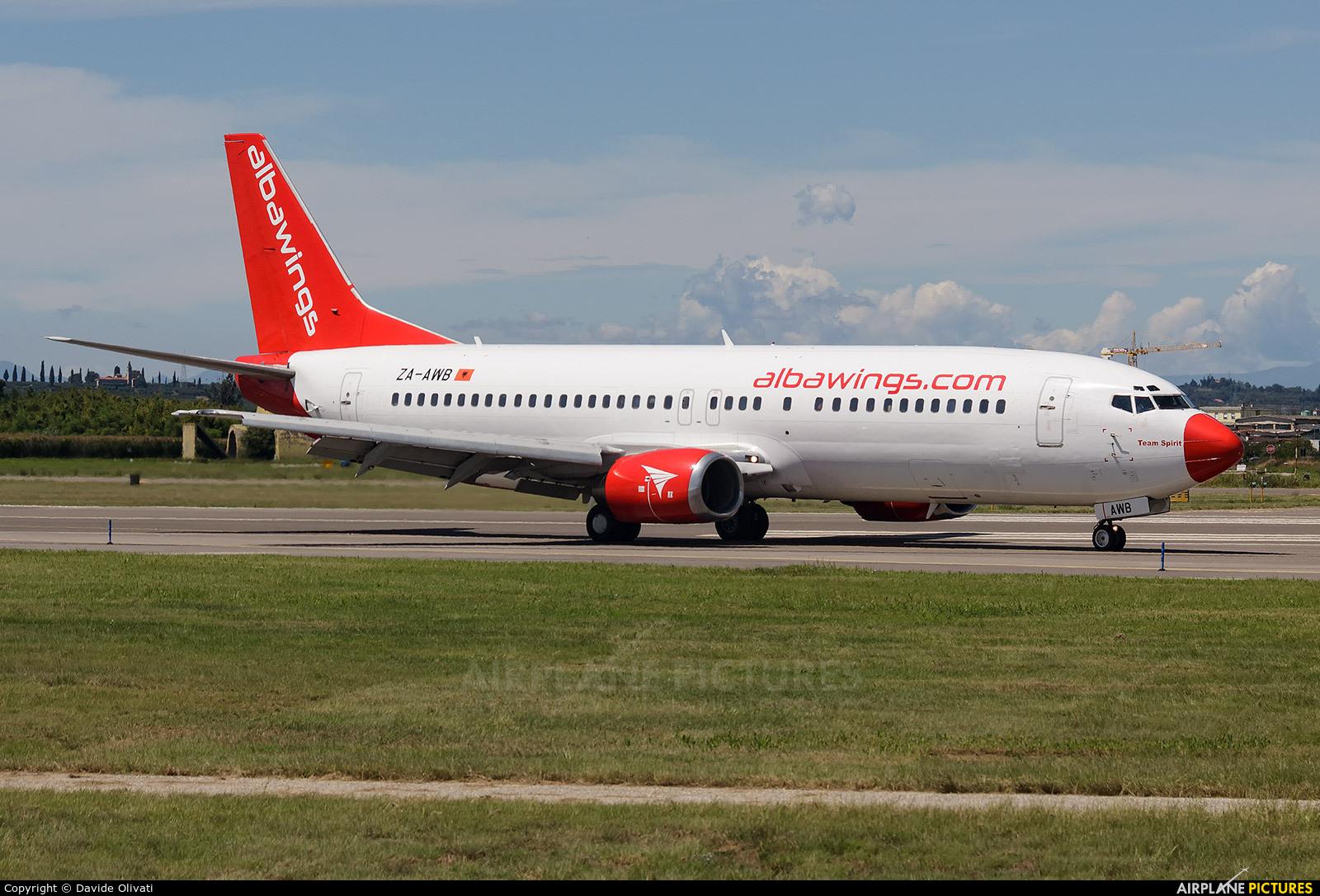 Albawings ZA-AWB aircraft at Verona - Villafranca