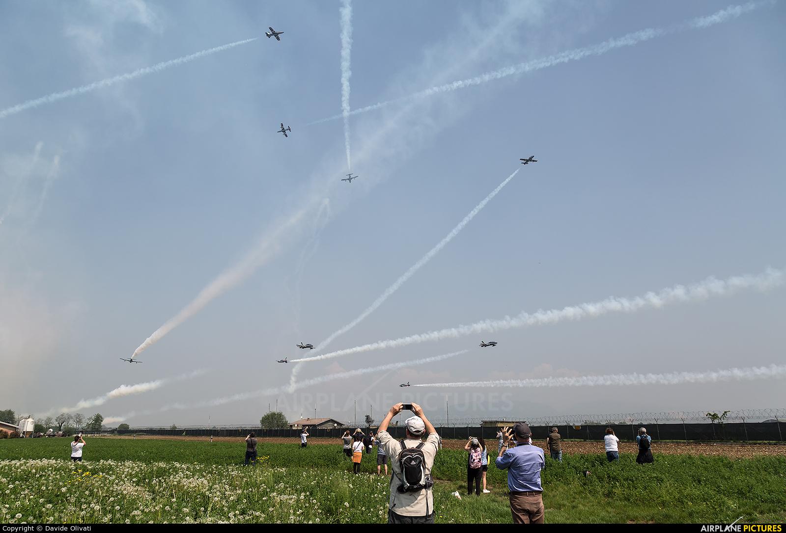 "Italy - Air Force ""Frecce Tricolori"" - aircraft at Ghedi"