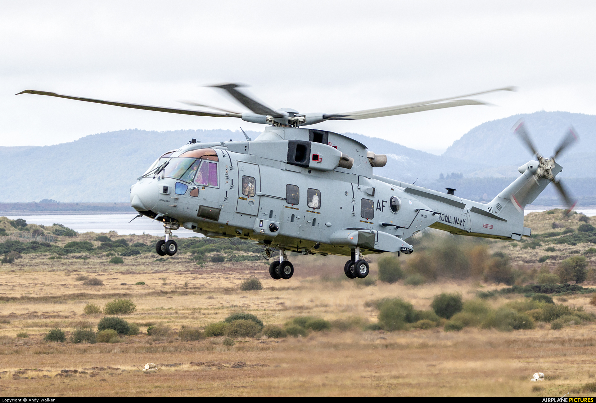 Royal Navy ZK001 aircraft at Tain Range