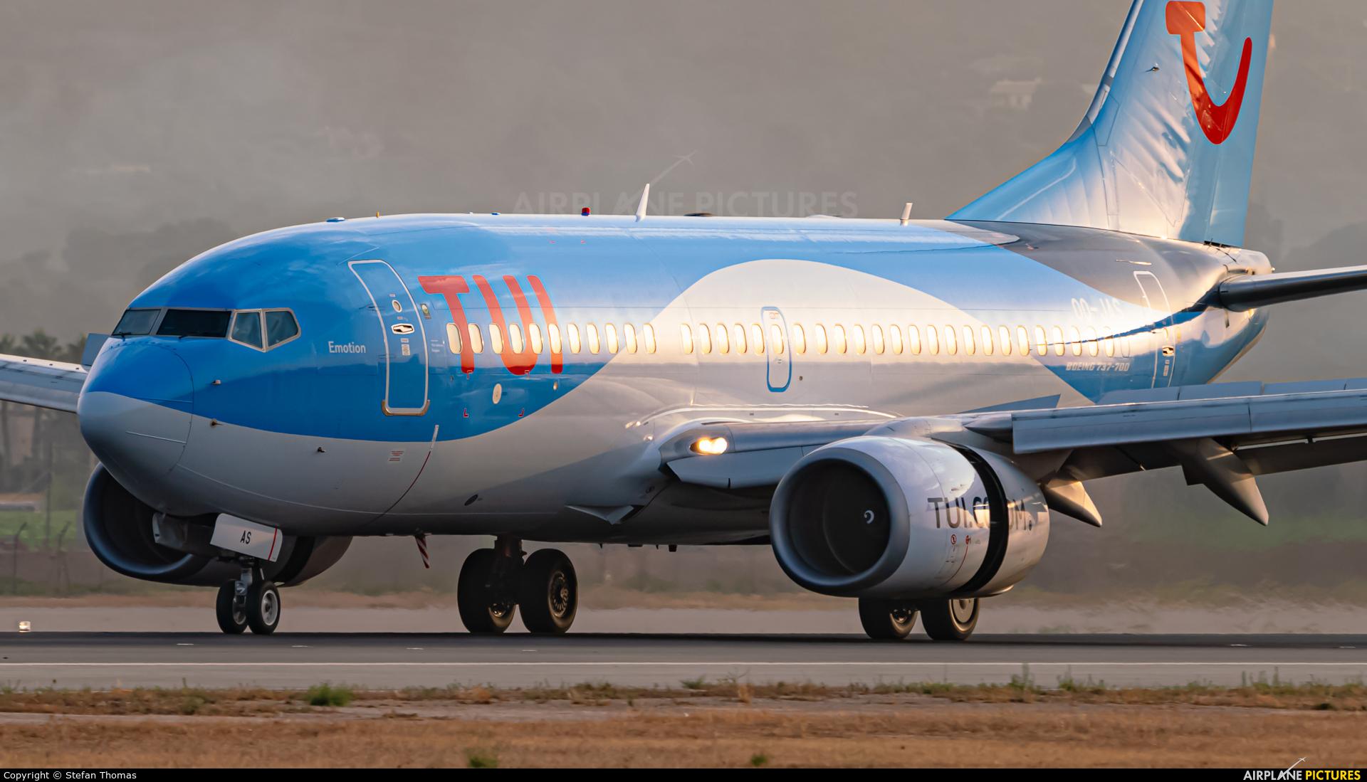 TUI Airlines Belgium OO-JAS aircraft at Palma de Mallorca