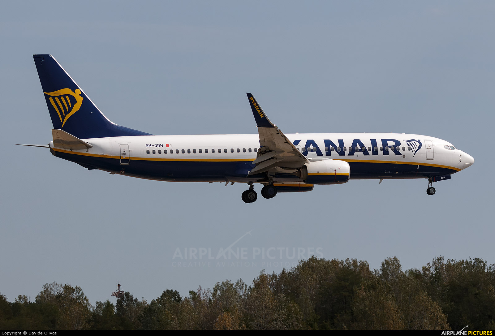Ryan Air 9H-QDN aircraft at Bologna - Borgo Panigale