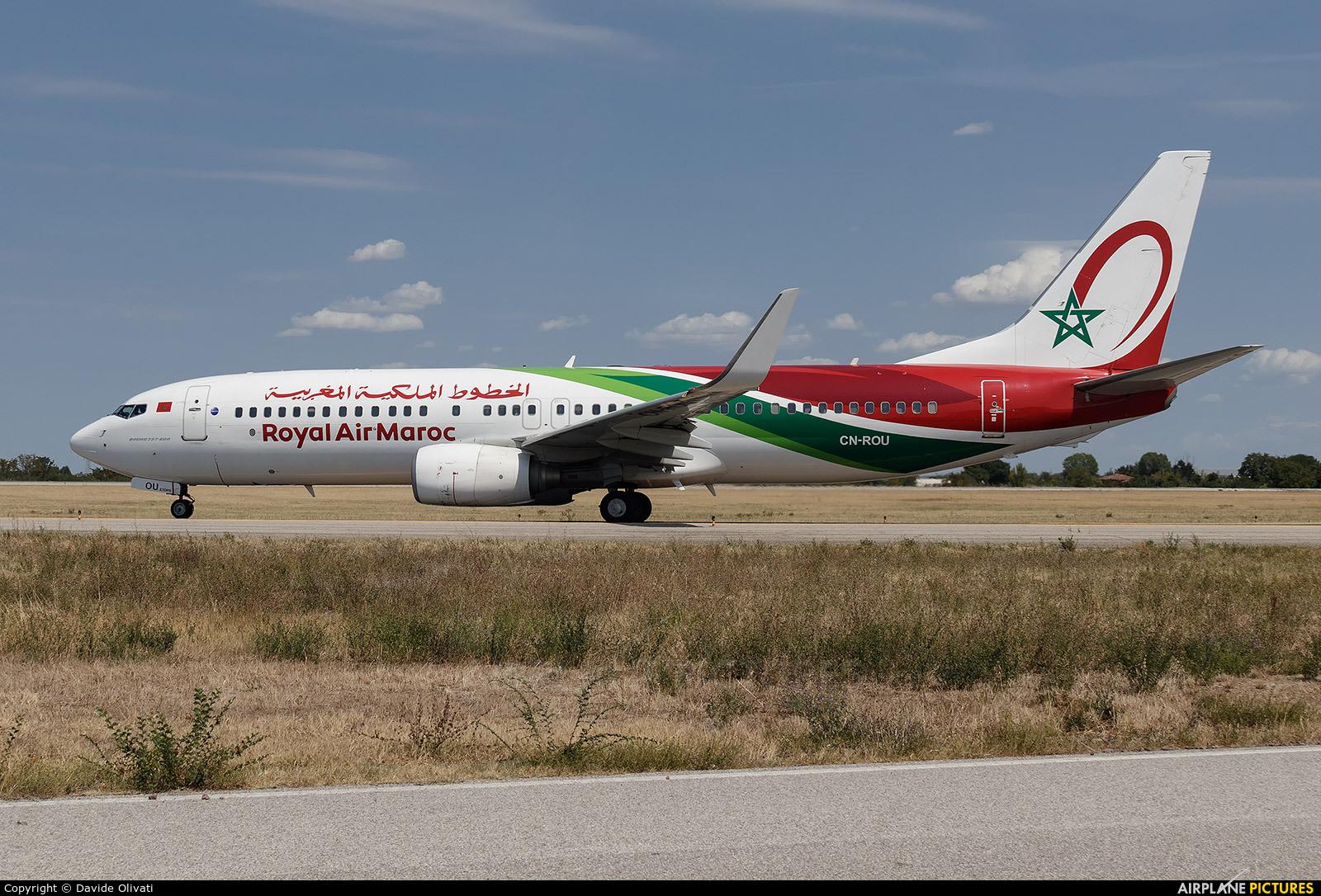 Royal Air Maroc CN-ROU aircraft at Bologna - Borgo Panigale