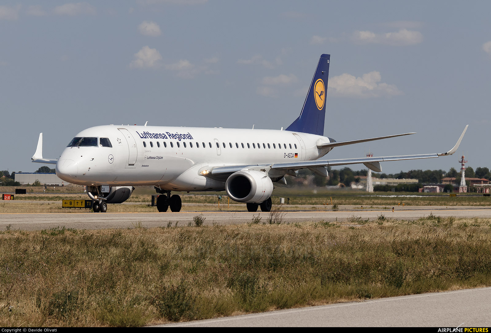 Lufthansa Regional - CityLine D-AECA aircraft at Bologna - Borgo Panigale