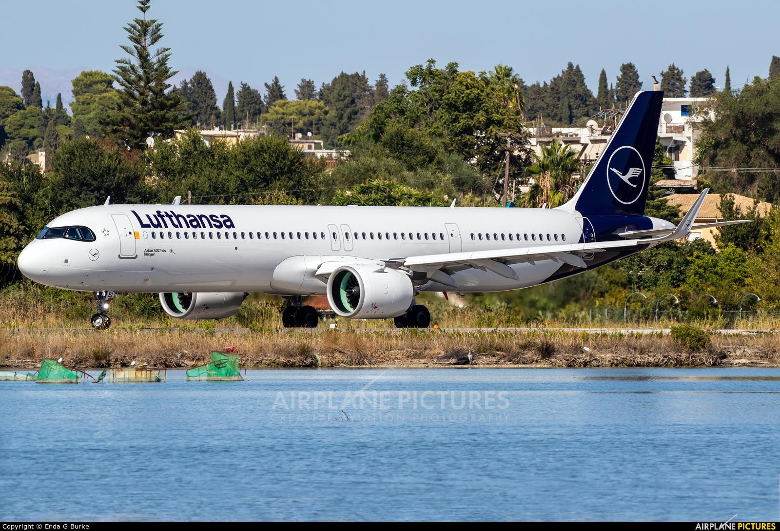 Lufthansa D-AIEI aircraft at Corfu - Ioannis Kapodistrias