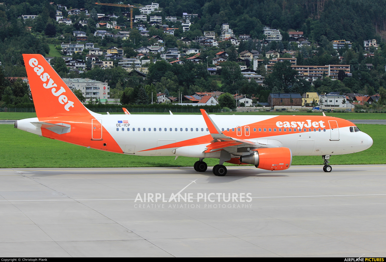 easyJet Europe OE-ICP aircraft at Innsbruck