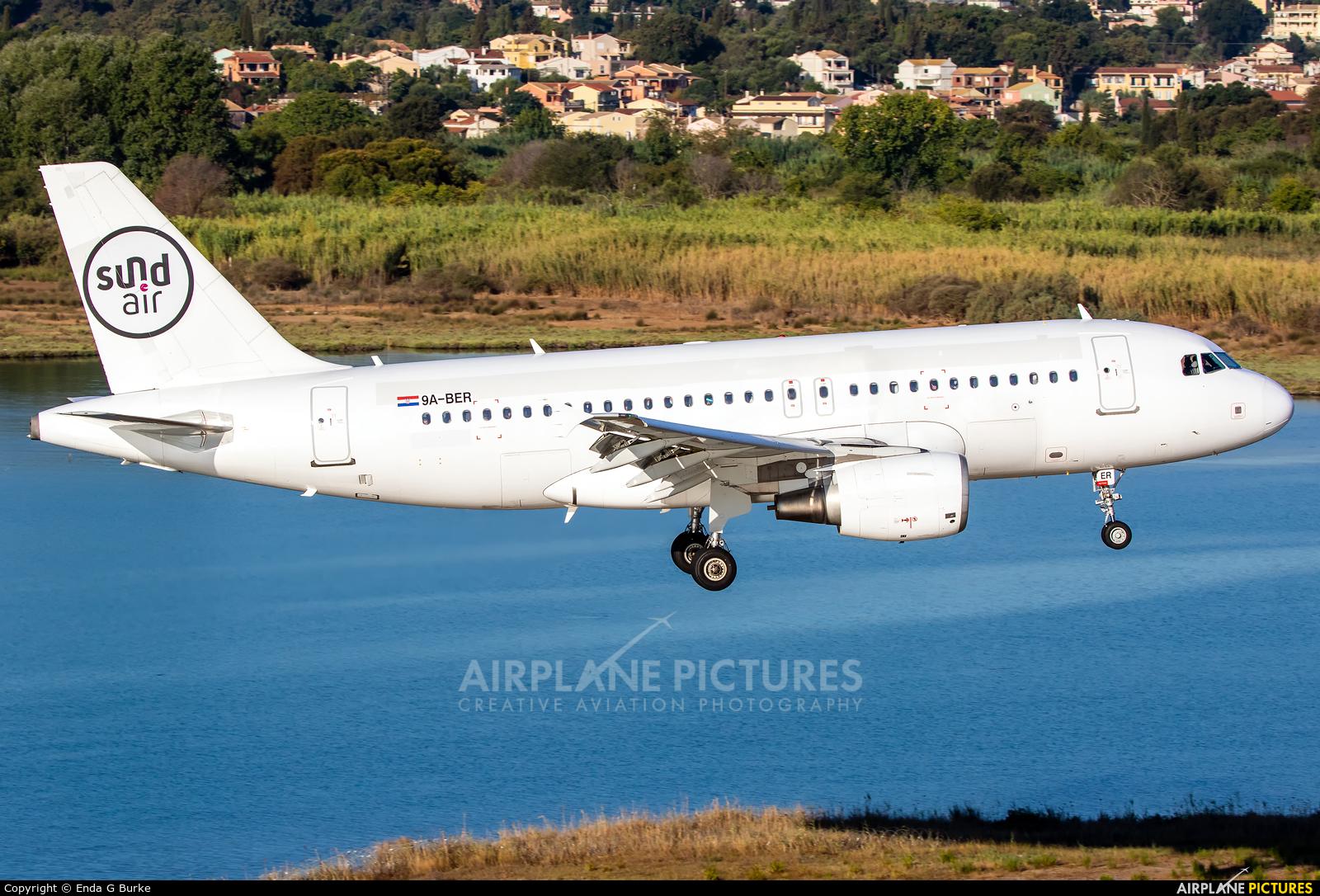 Sundair 9A-BER aircraft at Corfu - Ioannis Kapodistrias