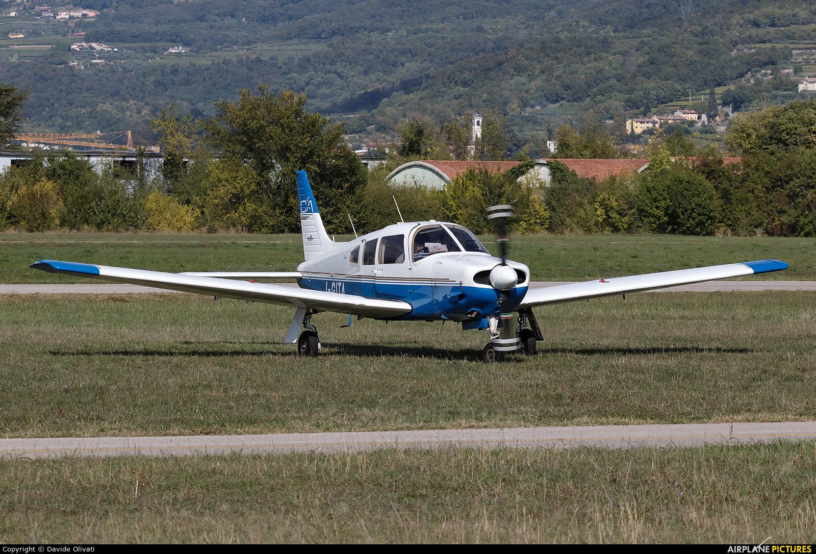 Private I-GITA aircraft at Verona - Boscomantico