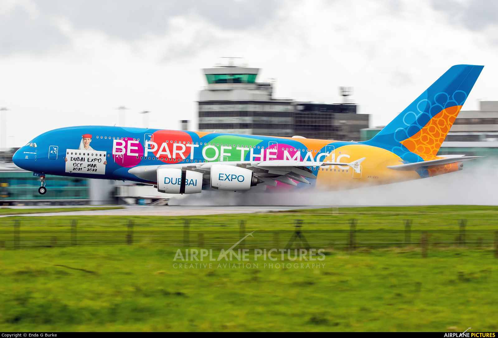 Emirates Airlines A6-EEU aircraft at Manchester