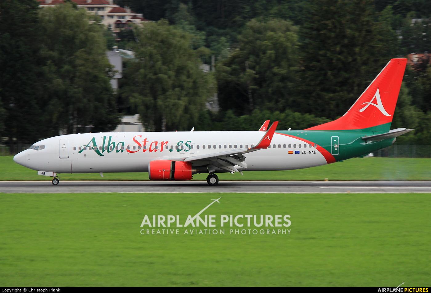AlbaStar EC-NAB aircraft at Innsbruck