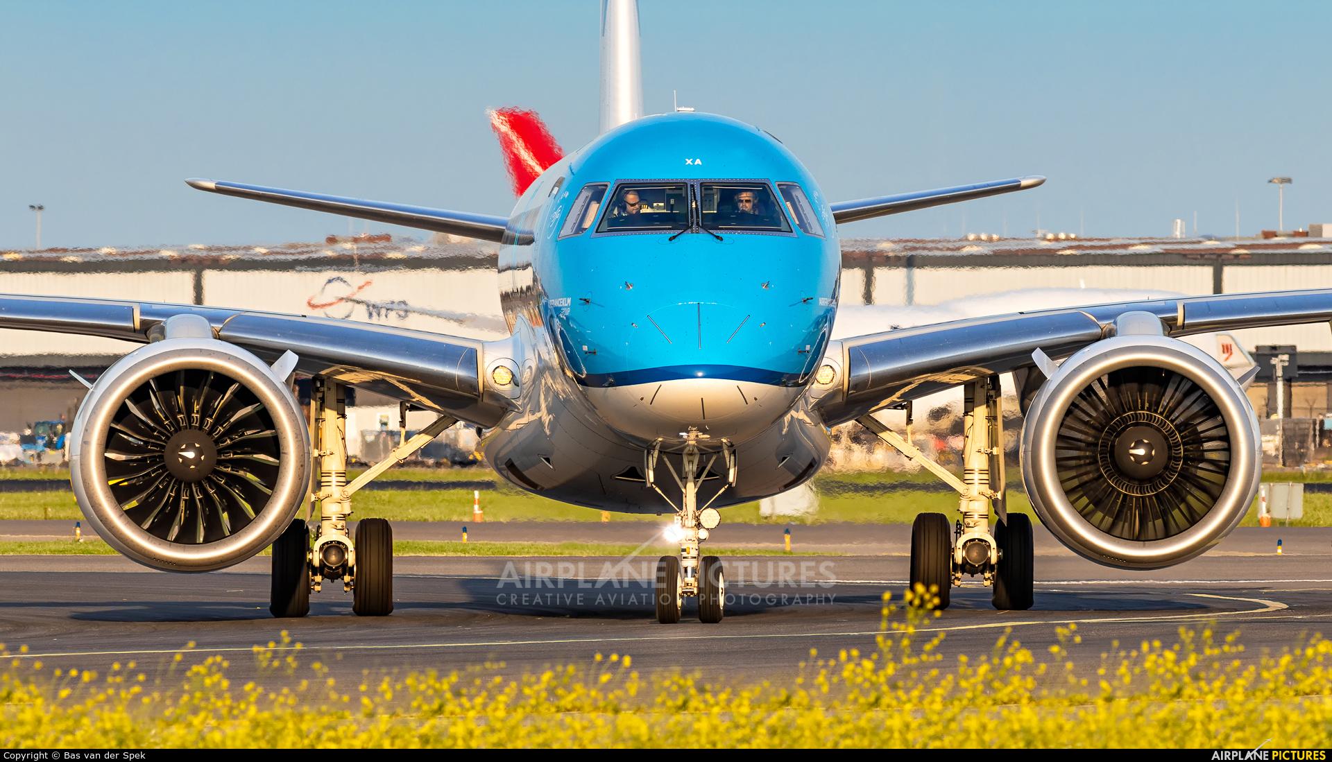 KLM Cityhopper PH-NXA aircraft at Amsterdam - Schiphol