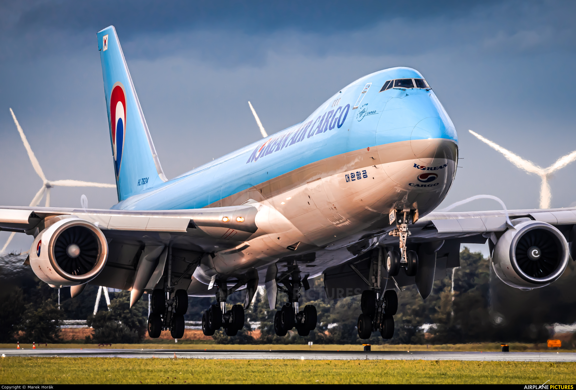 Korean Air Cargo HL7624 aircraft at Amsterdam - Schiphol