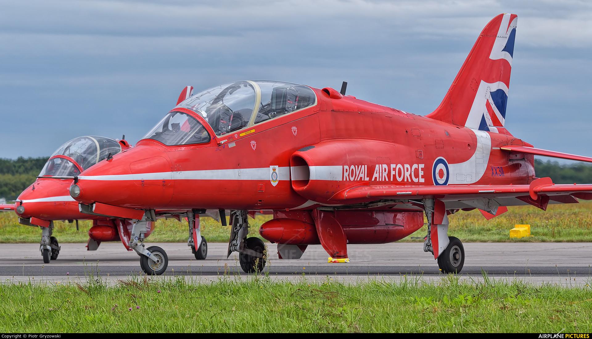 "Royal Air Force ""Red Arrows"" XX311 aircraft at Gdynia- Babie Doły (Oksywie)"