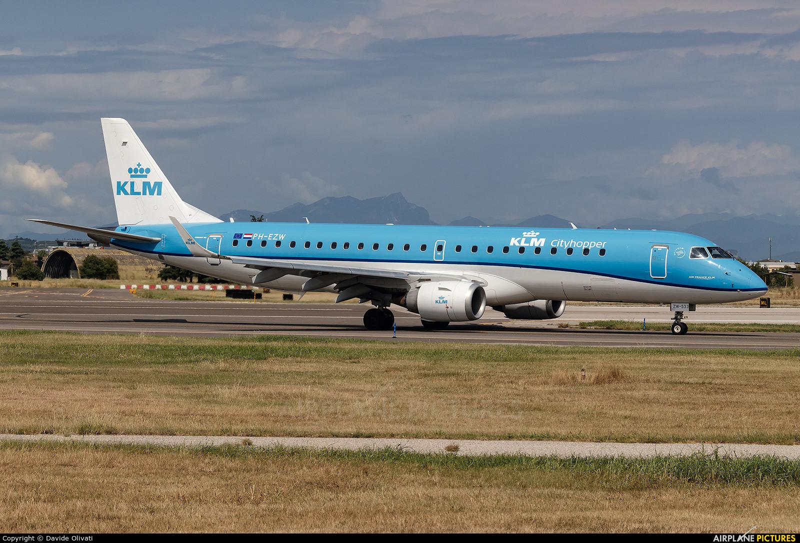 KLM Cityhopper PH-EXV aircraft at Verona - Villafranca