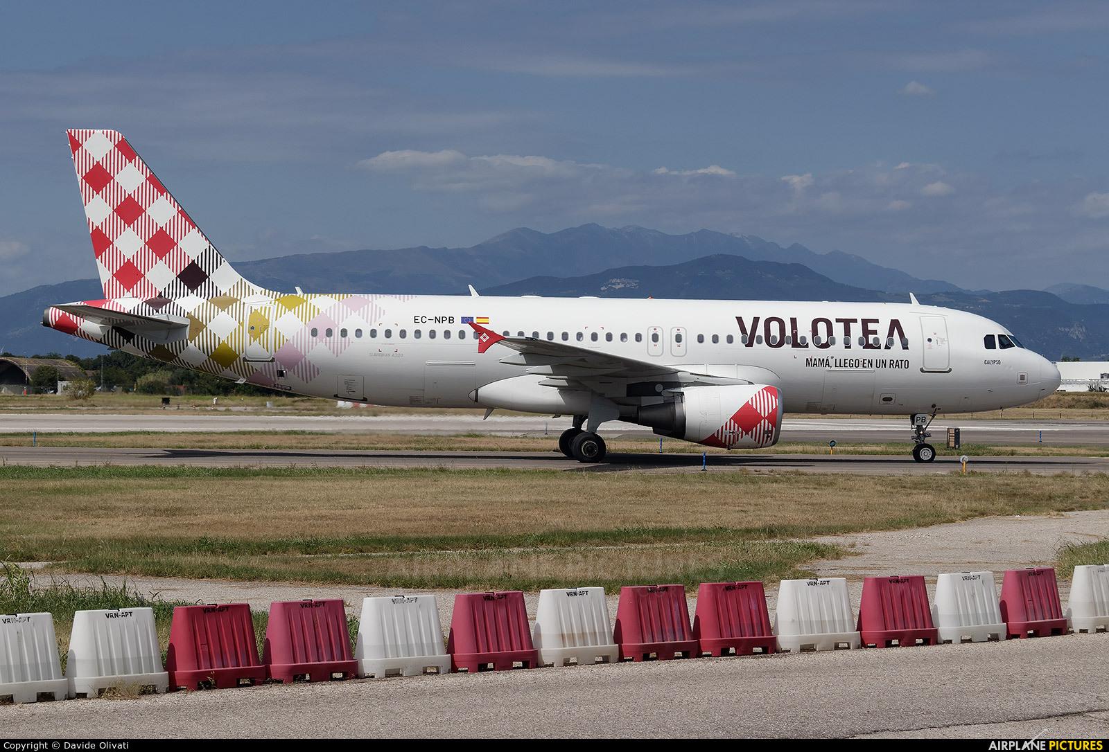 Volotea Airlines EC-NPB aircraft at Verona - Villafranca
