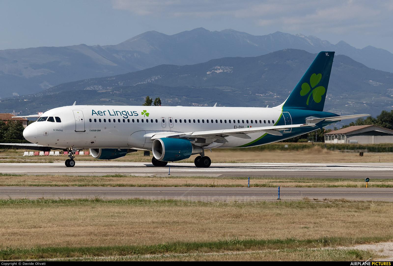 Aer Lingus EI-DVL aircraft at Verona - Villafranca