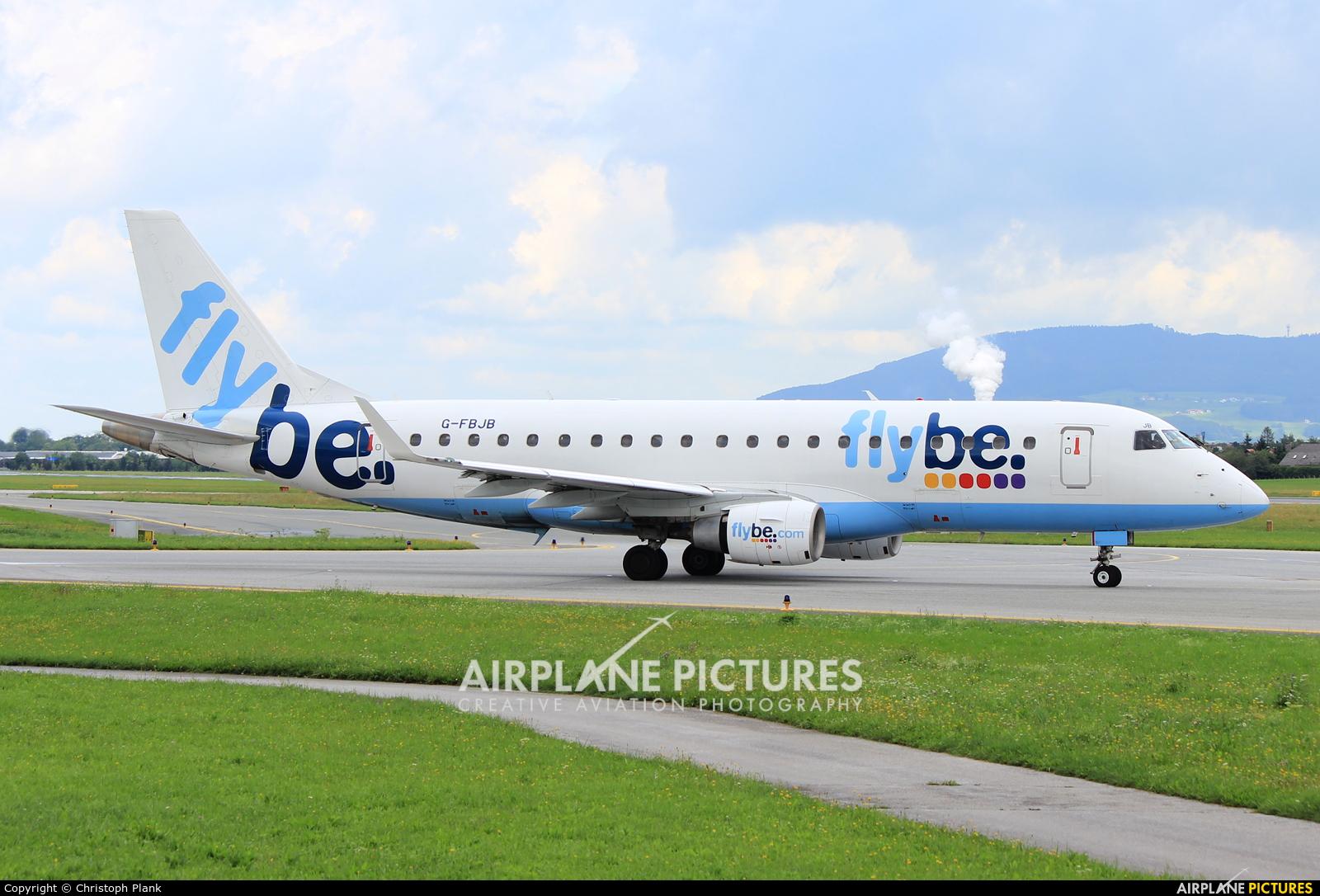 Flybe G-FBJB aircraft at Salzburg