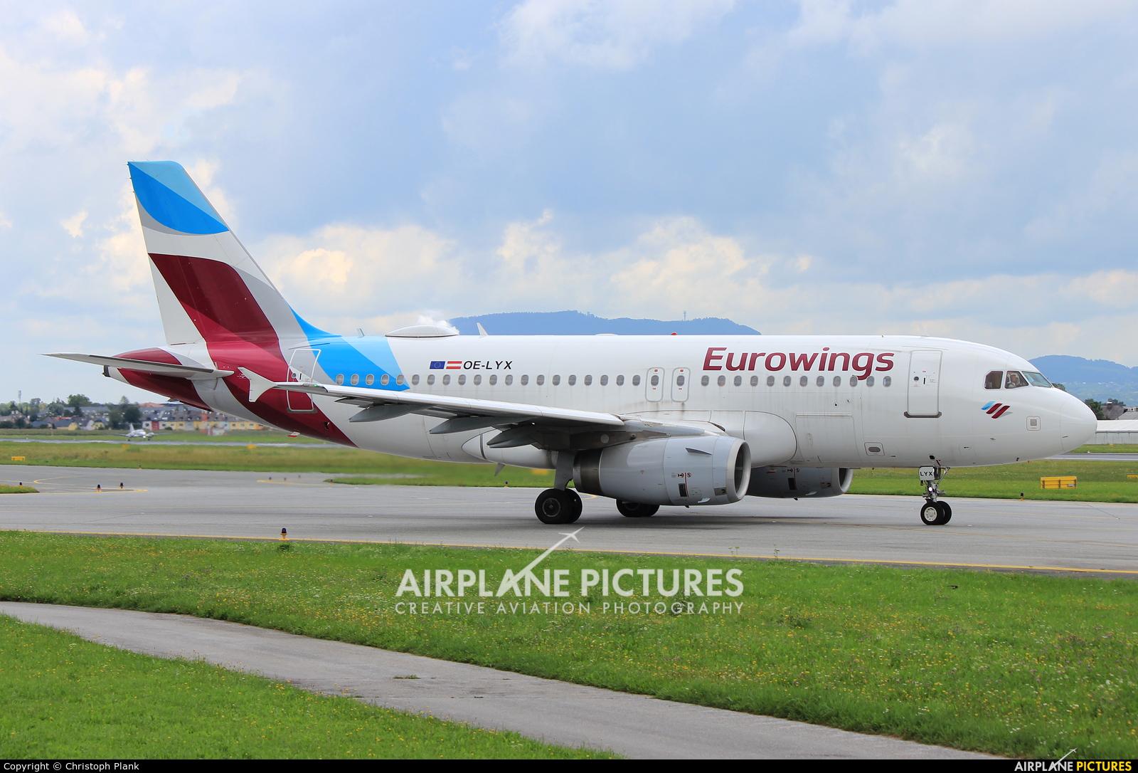 Eurowings Europe OE-LYX aircraft at Salzburg