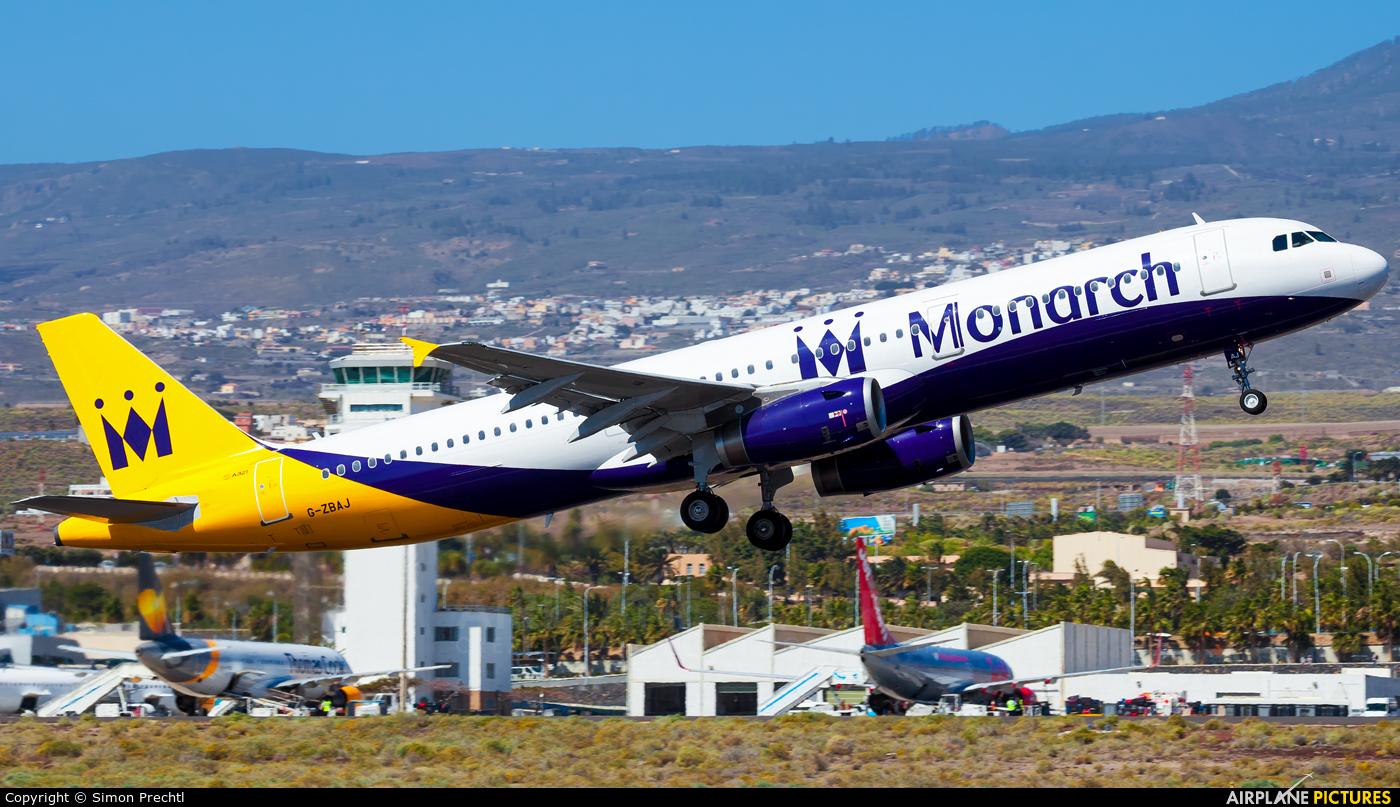 Monarch Airlines G-ZBAJ aircraft at Tenerife Sur - Reina Sofia