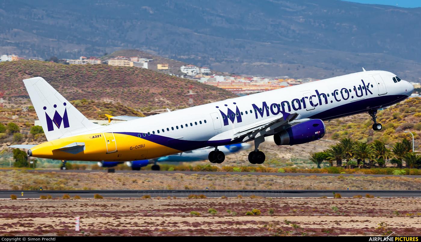 Monarch Airlines G-OZBU aircraft at Tenerife Sur - Reina Sofia