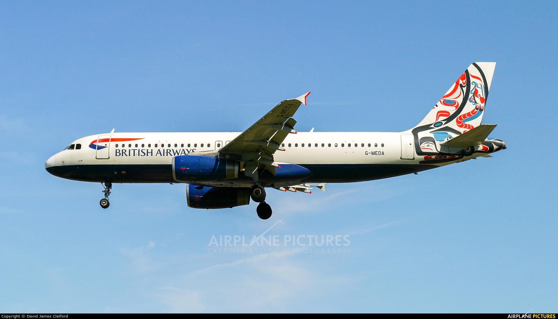 British Airways G-MEDA aircraft at London - Heathrow