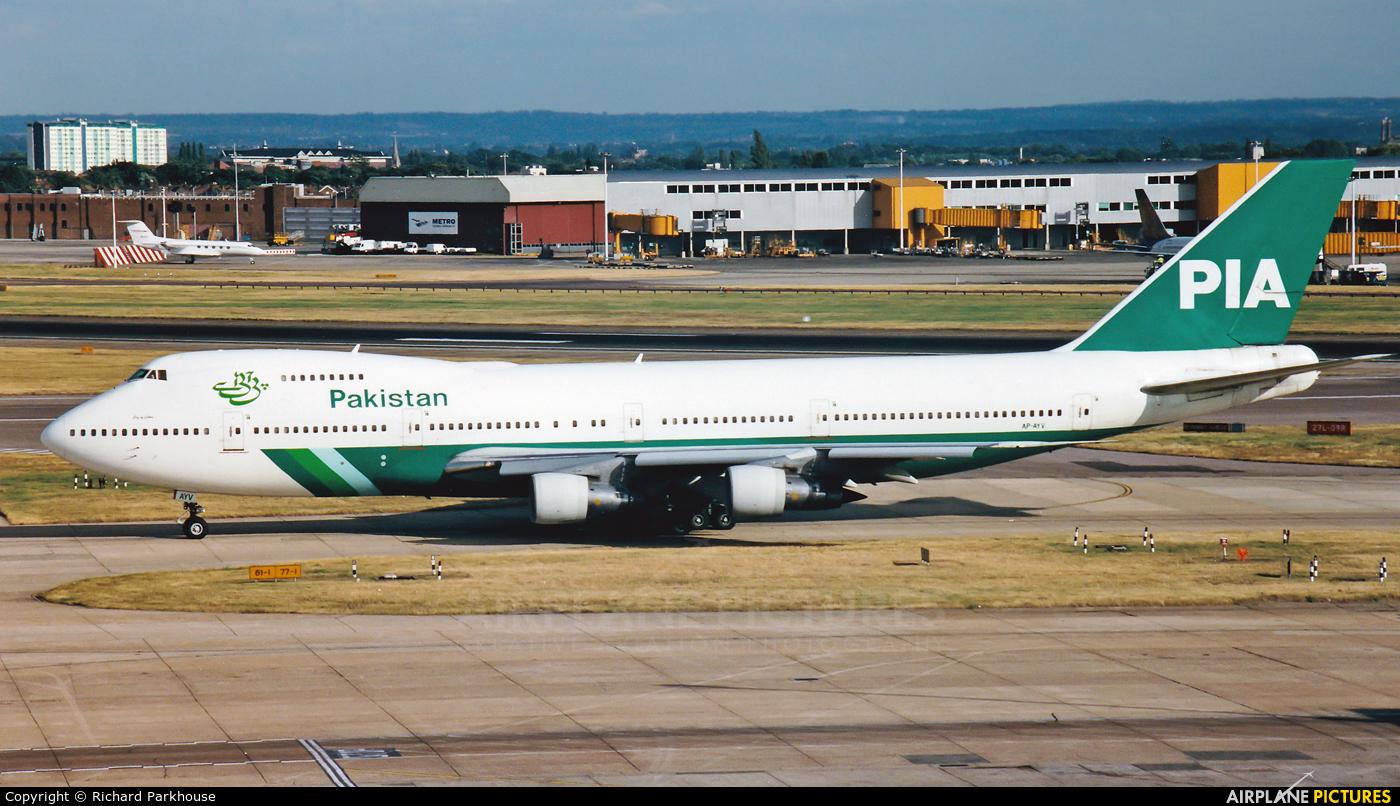 PIA - Pakistan International Airlines AP-AYV aircraft at London - Heathrow
