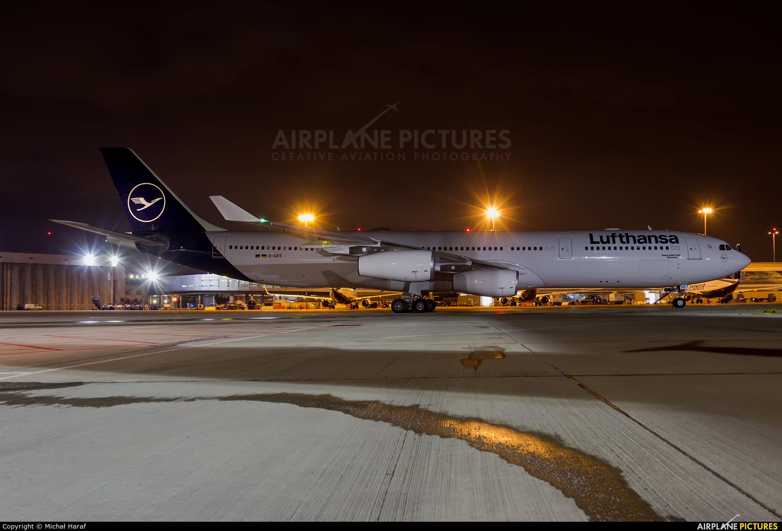 Lufthansa D-AIFF aircraft at Dublin