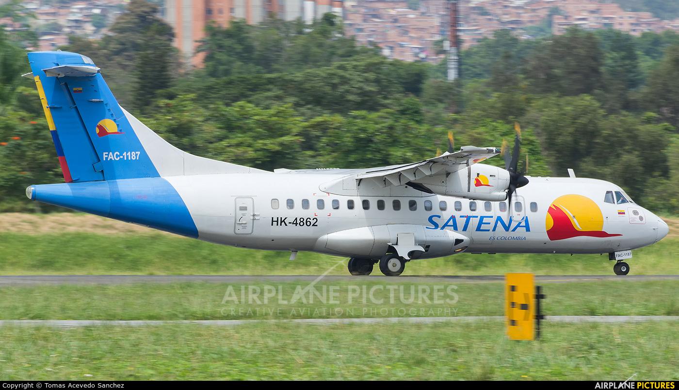 Satena HK-4862 aircraft at Medellin - Olaya Herrera