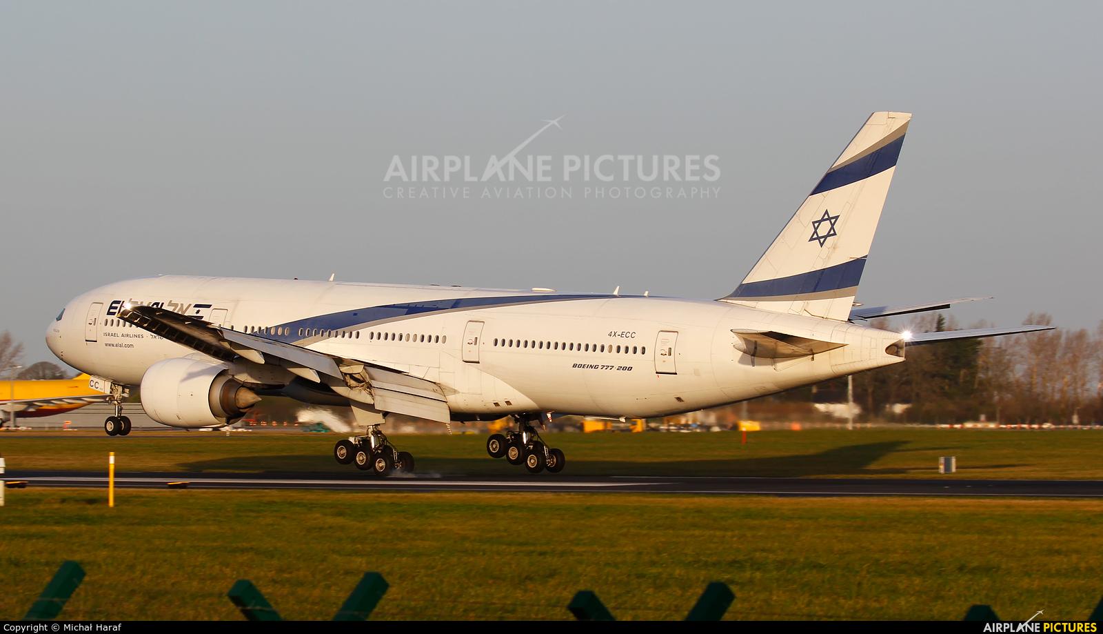 El Al Israel Airlines 4X-ECC aircraft at Dublin